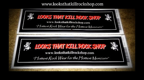Looks That Kill Rock Guitar and Gig Case Sticker