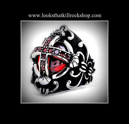 Gorgeous Gothic Ruby Ring