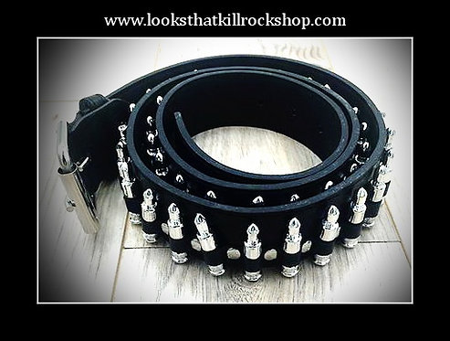 Cocked and Loaded Glam Metal Bullet Belt!