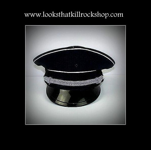 "~HOT~ ""Nikki Sixx"" Style Military Hat"