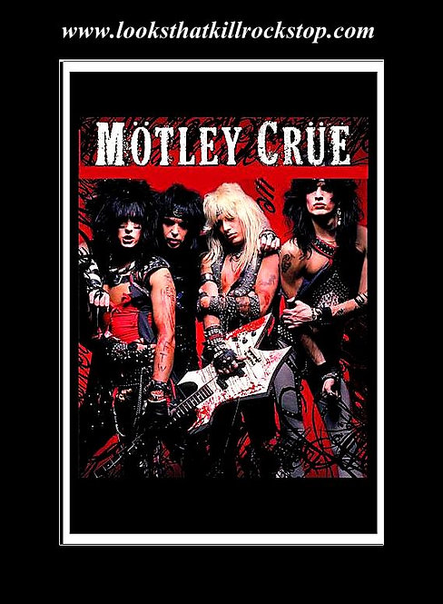 Motley Crue 1983-2005 Cover Art Poster with Too Fast For Love Recording Contract