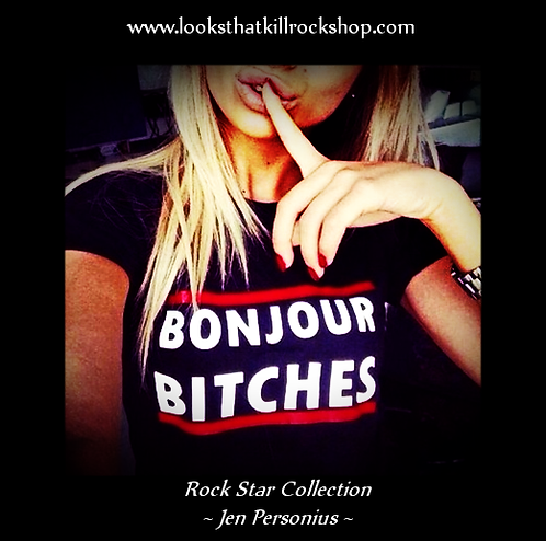 "Rock Star Series Jen Personius Collection ""BonJour"" Rock Top"