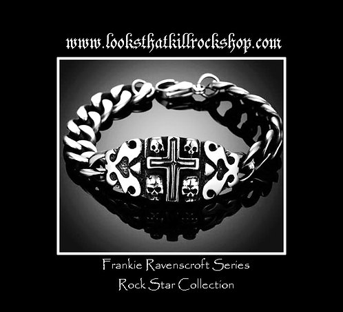 "Rock Star Collection ""Frankie Ravenscroft Series"" Epic Gothic Titanium Bracelet"