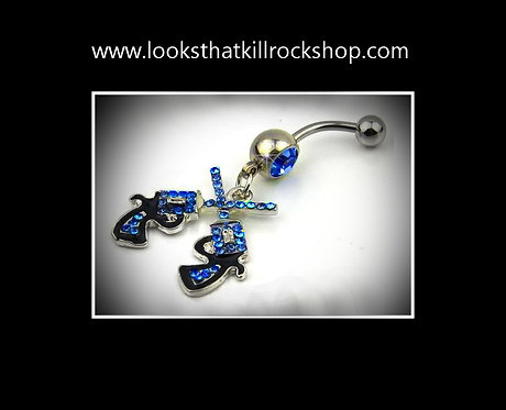 Sexy Guns n Roses Belly Button Rings
