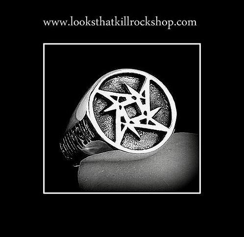 Skull Crusher Rocking Metallic Ring