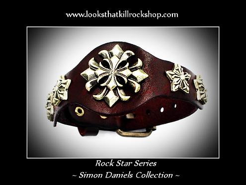 "Rock Star Series of Simon Daniels Collection ""Sun Star"" Bracelet"