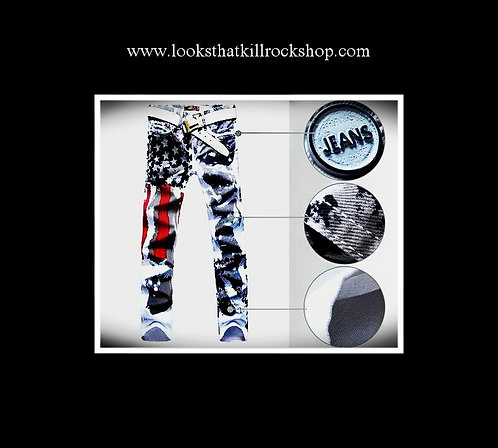 """Def Leppard Style """"Hysteria"""" Jeans"""