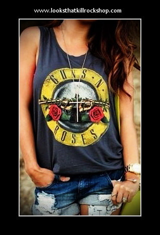 Sexy Guns and Roses Tank Top