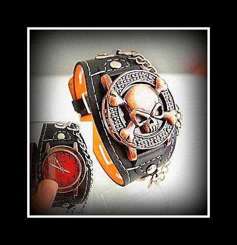 """Skull Crusher"" Series Copper Skull Watch"