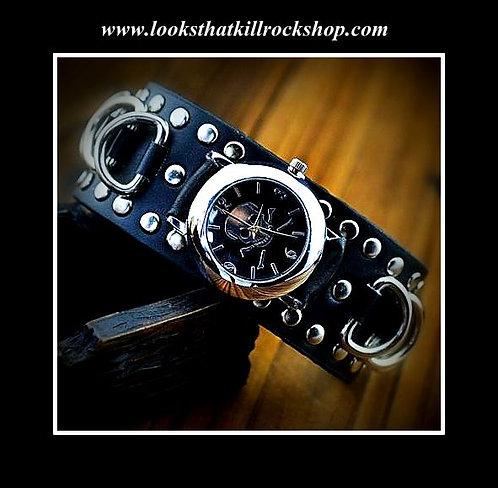 """""""Skull Crusher"""" Series Chrome Ring Watch Combo"""