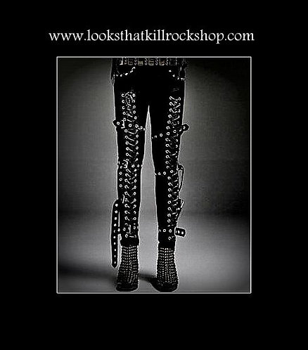 Hot~! Riveted Slim Stage Wear Pant!