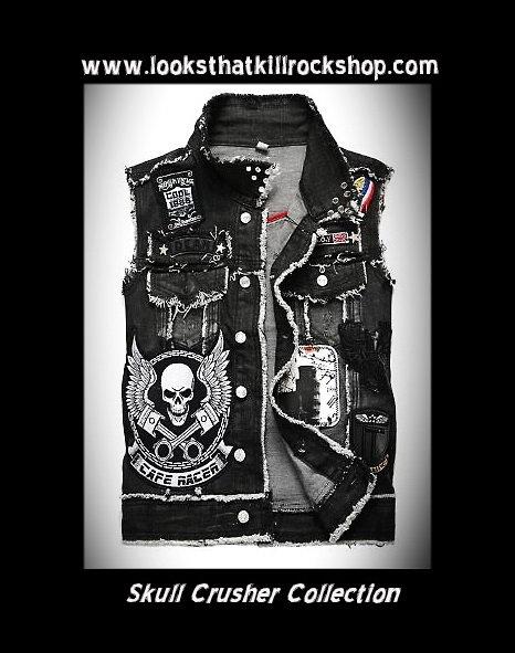 Skull Crusher Live 2 Ride Biker Vest!