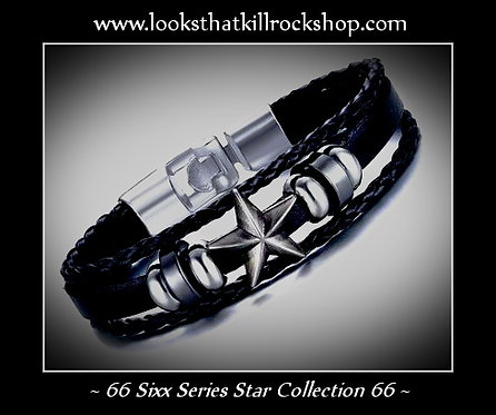 "Rocking Sixx Series ""Stars"" Slide Bracelet"
