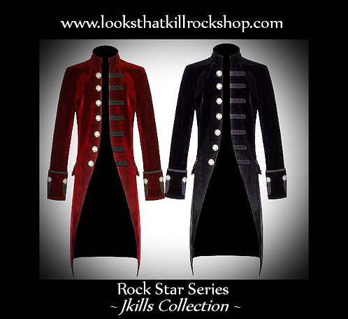 Rock Star Jkills Full Length Gothic Blazer