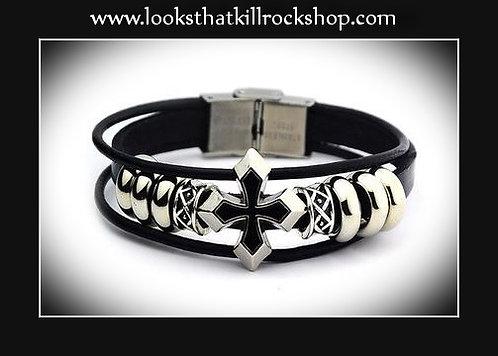 Morning Black Star Slide Bracelet