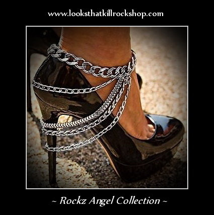 "Crazy Sexy ""Looks That Kill"" Style Ankle Chain"
