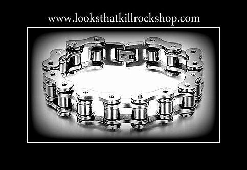 Rocking Motorcycle Chain Style Bracelet