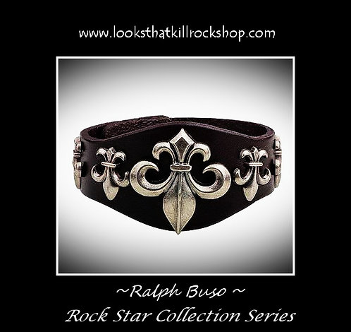 "Ralph Buso Rock Star Series ""Fluer De Lis"" Bracelet"