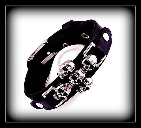 Skull Crusher Series Leather Bracelet