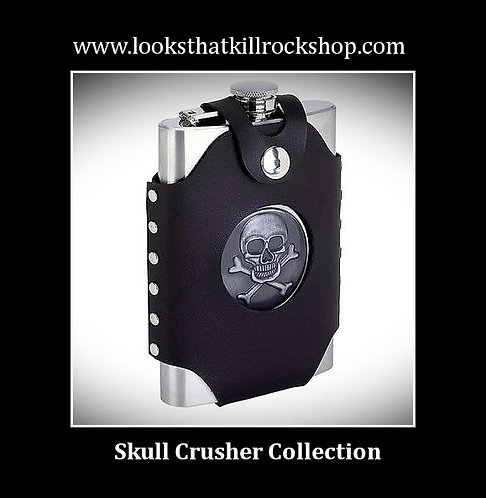 Skull Crusher Stainless Steel Flask with Carrying Case