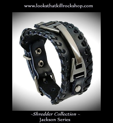 "New ""Shredder Collection"" Jackson Style Braided Black Leather"