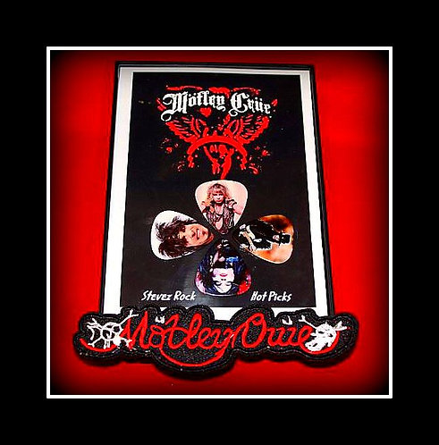 Motley Crue Pick Set and Logo Patch Combo Special