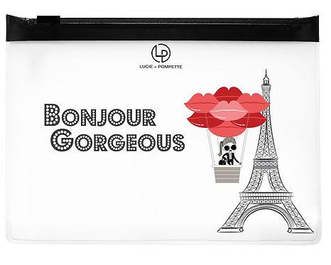 Bon Voyage Makeup Bag - Bonjour