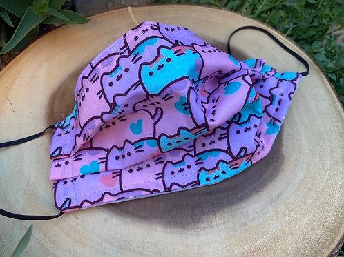 Pusheen Pink Cat Face Mask