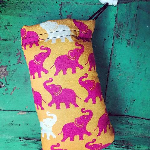 Orange and Pink Elephant Padded Bag