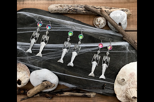 Skeleton Mermaid Earrings
