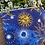 Thumbnail: Celestial Zipper Bag /cosmetic bag (8.5x6.5 inch)