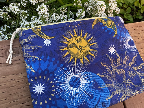 Celestial Zipper Bag /cosmetic bag (8.5x6.5 inch)