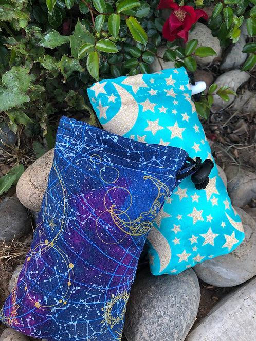 Glitter Moon Drawstring Pipe Bags