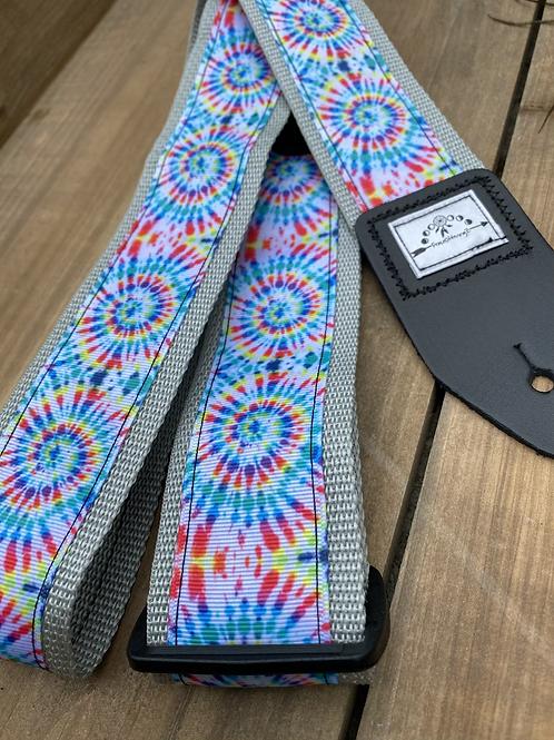 Tie Dye Swirl Guitar Strap