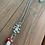 Thumbnail: Grateful Dead inspired Dancing Bear Glass Mushroom Necklace
