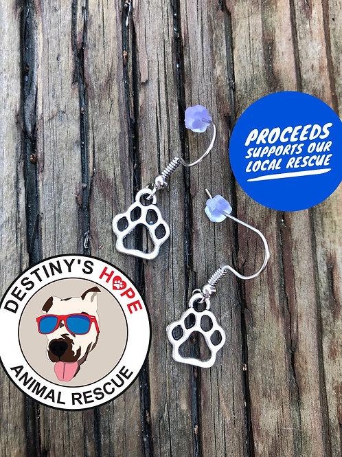Rescue Paw Print Earrings