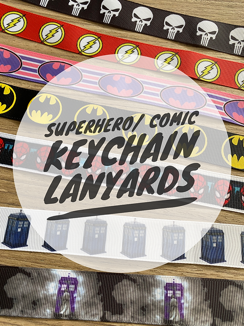 SuperHero/ Comic Wristlet Keychain Lanyards
