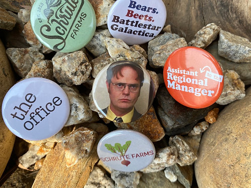 Dwight Button or Magnet Set of 6