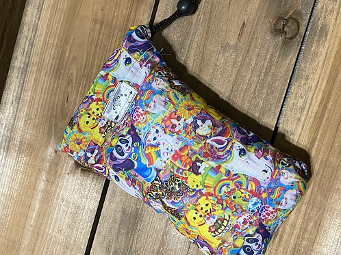 Lisa Frank 7x4 Padded Drawstring Pipe bag