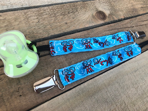 Thing 1 and Thing 2 Pacifier Clip