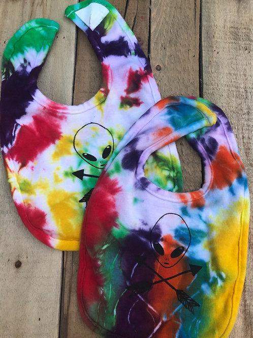 Alien Tie-Dye Bibs