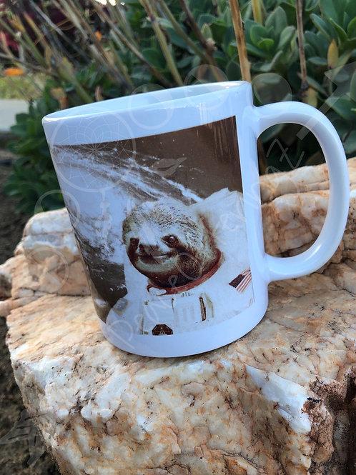 Astronaut Sloth Coffee Cup