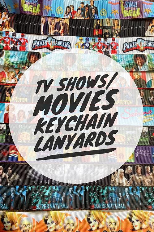 TV Shows / Movie Print Keychain Lanyards