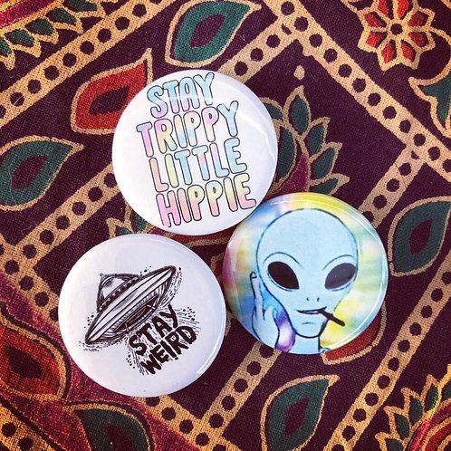 Stay Trippy Alien set of 3