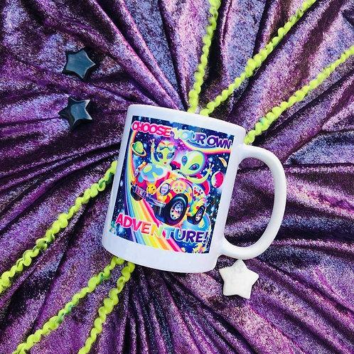 Lisa Frank Alien Coffee Cup