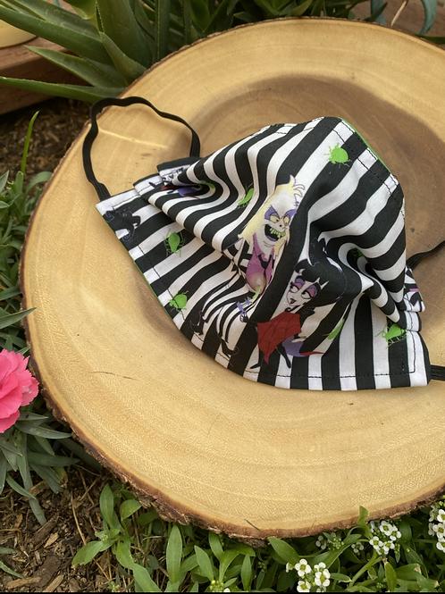Beetlejuice Striped Face Mask