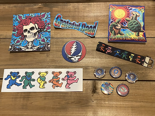 Grateful Dead Waterproof Vinyl Stickers, Magnets, Keychain Lanyard Gift Set