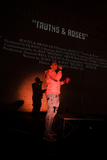 """Photo By David Kim  """"Truths and Roses,"""" premiere by Kev Choice in The Lot"""