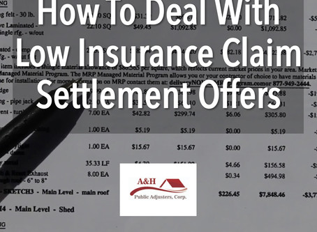 How To Deal With Low Insurance Claim Settlement Offers