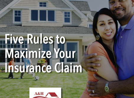 Five Rules to Maximize Your Insurance Claim